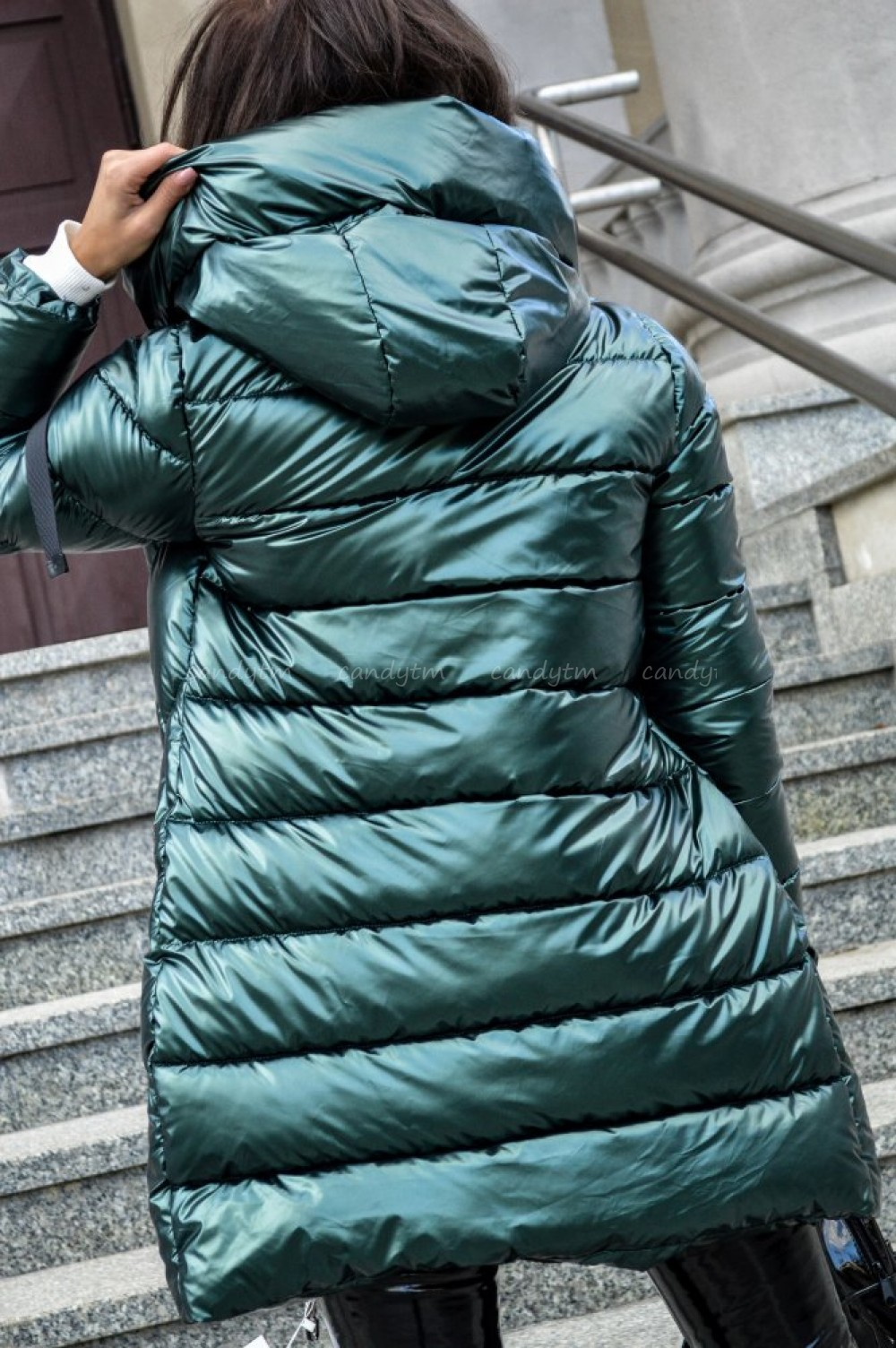 kurtka damska zimowa zieleń m