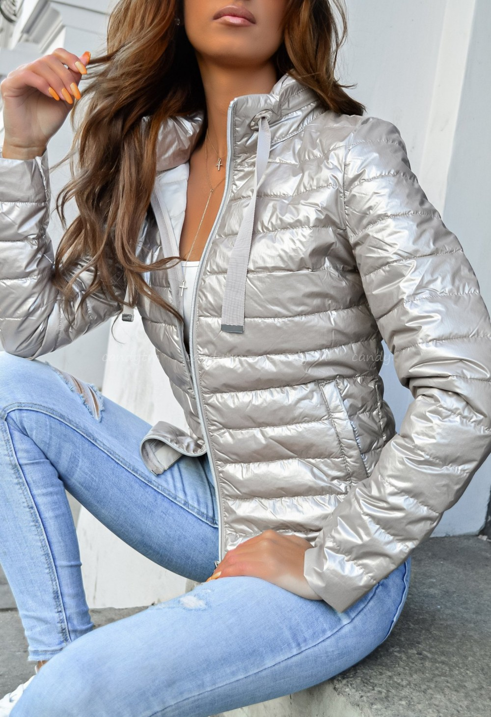 cienka kurtka pikowana damska xxl