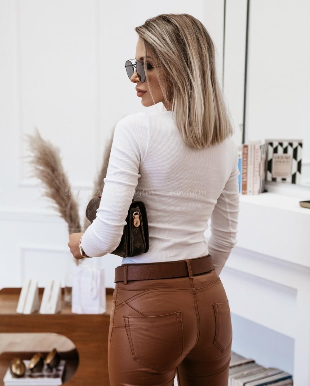 SPODNIE WOSKOWANE CAMEL Sklep z odzieżą damską CandyTM
