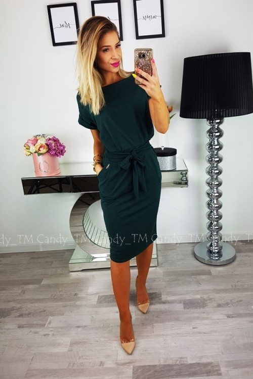 STELLA DRESS BOTTLE GREEN