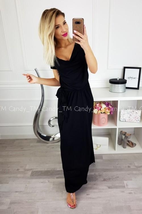 MAXI DRESS SASH BLACK