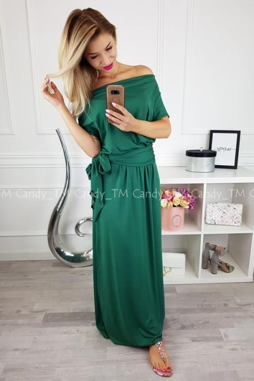 MAXI DRESS SASH GREEN
