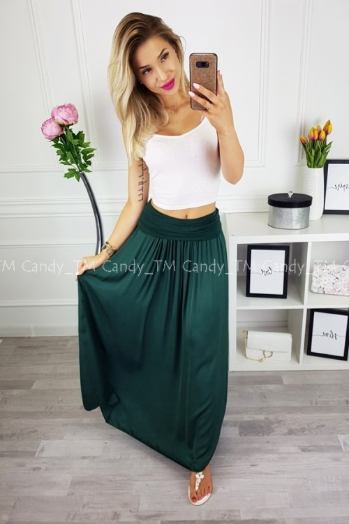 MAXI SKIRT BOTTLE GREEN