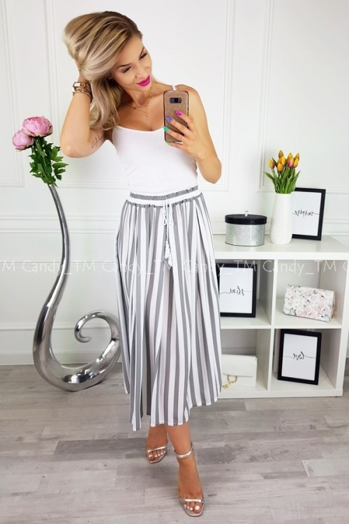 MAXI SKIRT MARINE RED/WHITE