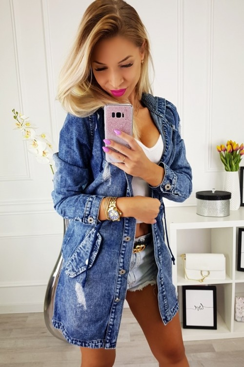 JEANS JACKET PEARLS