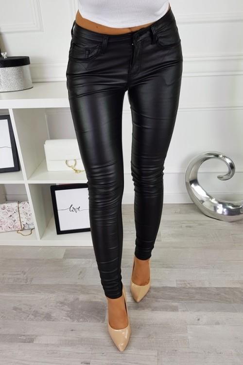 WAXED PANTS BLACK 4