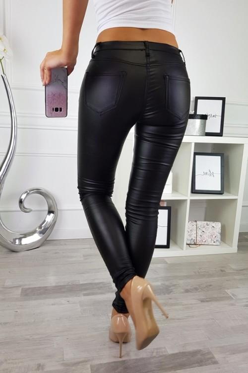 WAXED PANTS BLACK 5