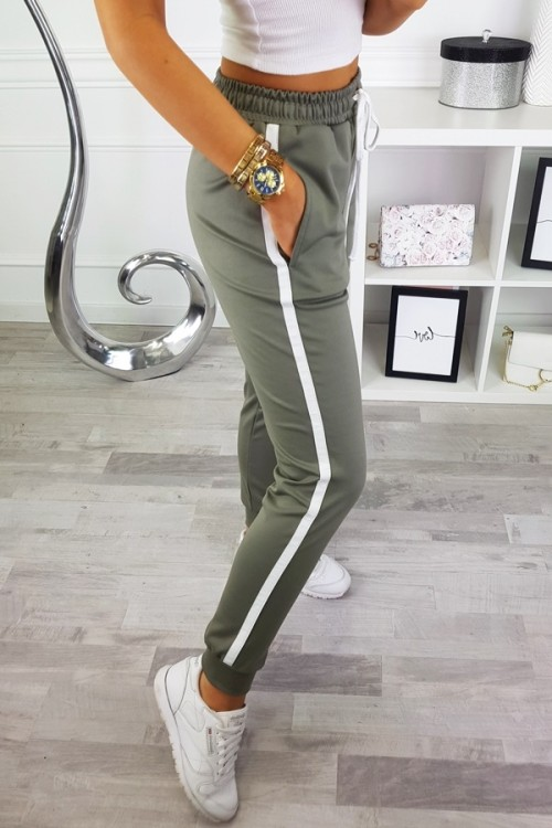 PANTS PLATINUM WITH SIDE STRIPES GREY