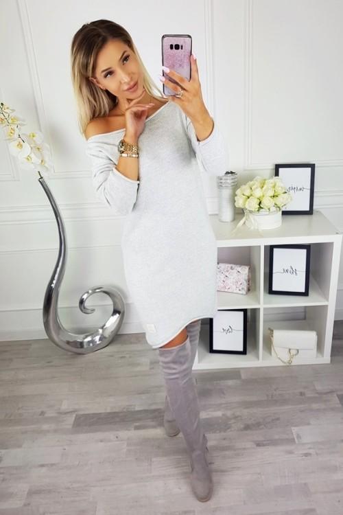 CANDY ASYMMETRIC DRESS JUMPER PINK