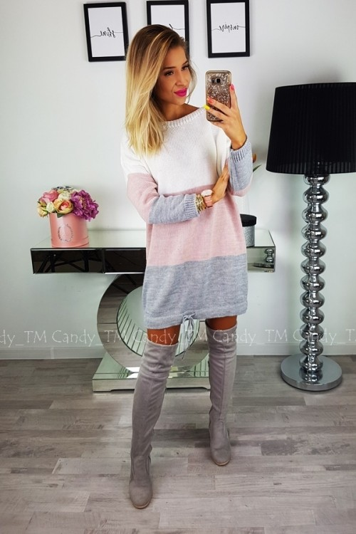 SWEATER/DRESS TOMMY POWDER PINK