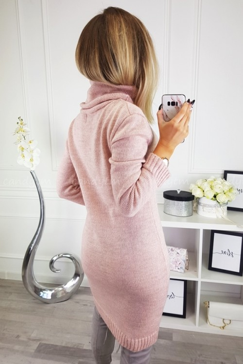 SWEATER/DRESS WITH TURTLENECK CANDY POWDER PINK 7
