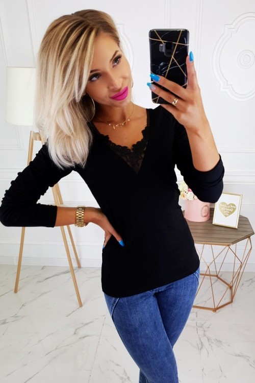 COTTON BLOUSE KLARA BLACK