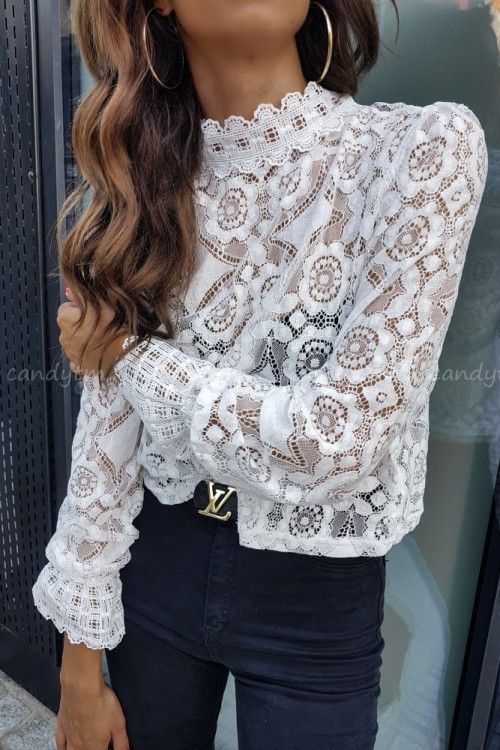 LACE SHIRT ALEXIS WHITE