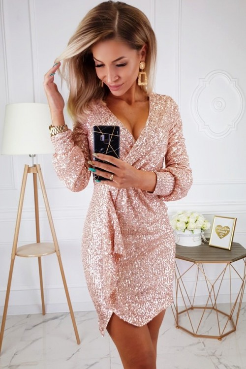 DRESS GENEVIEVE ROSE GOLD