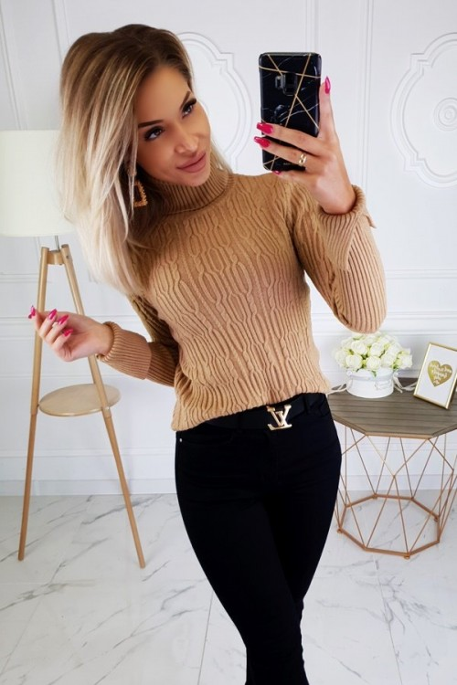 TURTLENECK SWEATER ANNETTE CAMEL