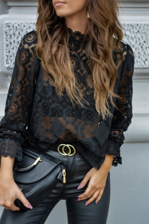 LACE SHIRT ALEXIS BLACK