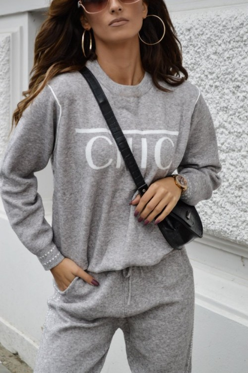SWEATER SET CHIC GREY