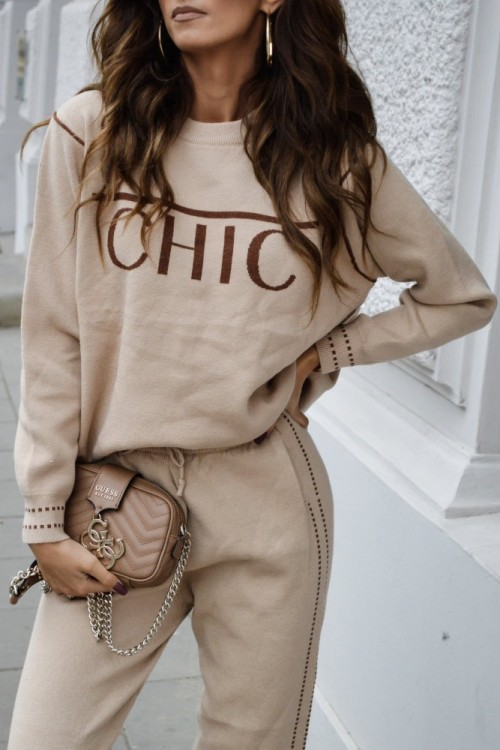 SWEATER SET CHIC BEIGE