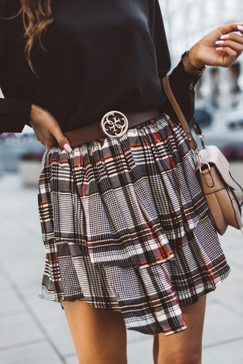 SKIRT PENELOPE CHECK