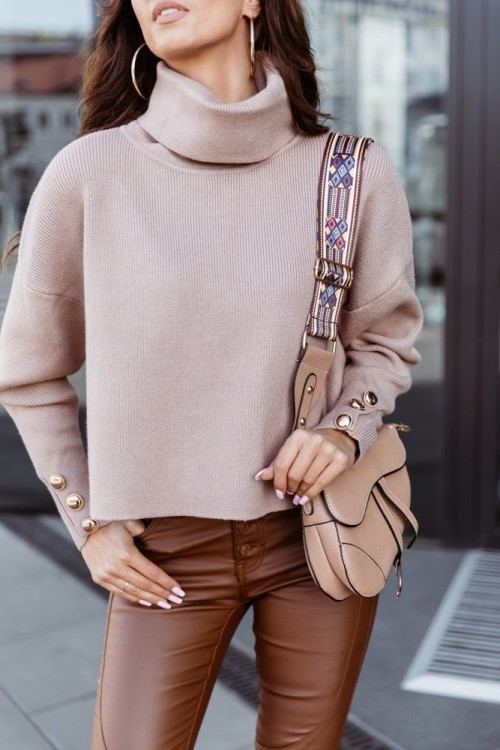 SWEATER GOLDEN BUTTONS MAY BEIGE
