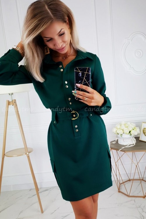 DRESS JOCELINE BOTTLE GREEN