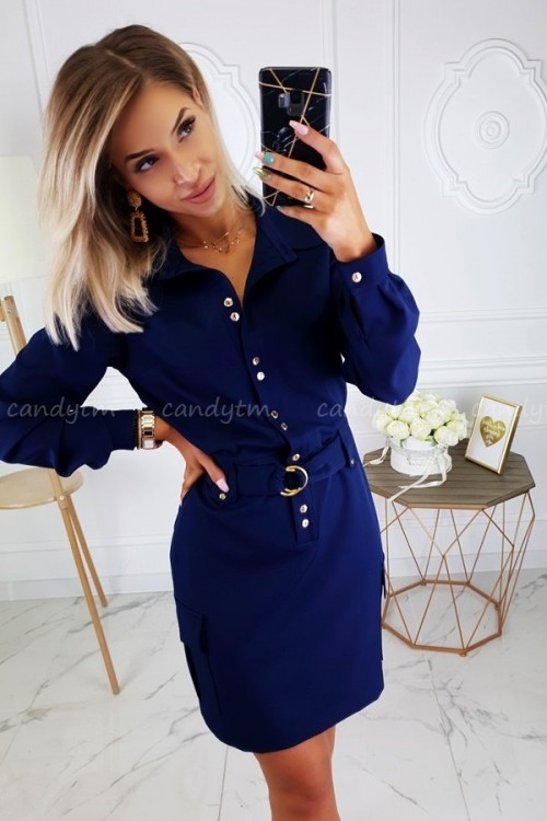 DRESS JOCELINE NAVY BLUE