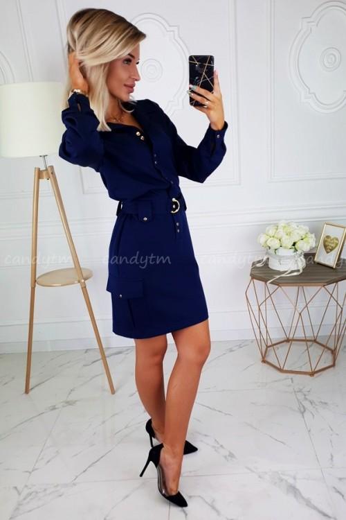 DRESS JOCELINE NAVY BLUE 2