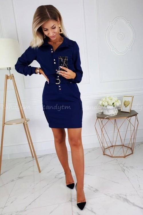 DRESS JOCELINE NAVY BLUE 1