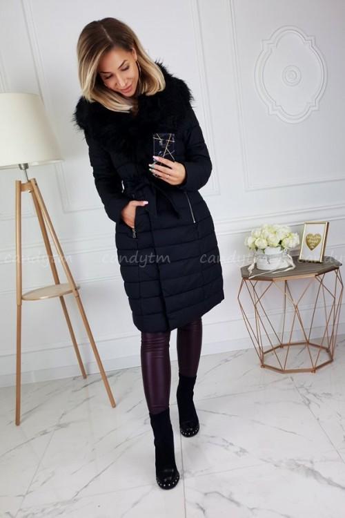 WINTER COAT WITH BLACK FUR