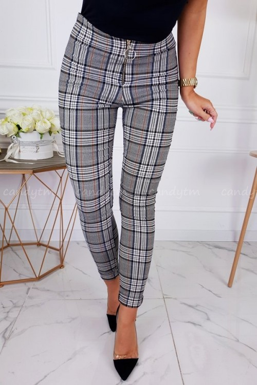 TROUSERS ZIP HIGH WAIST CHECK