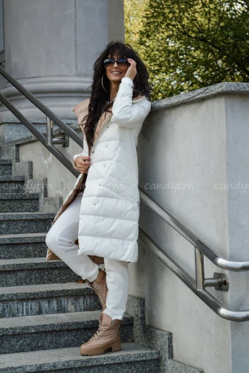 TWO SIDED COAT CREME / BEIGE