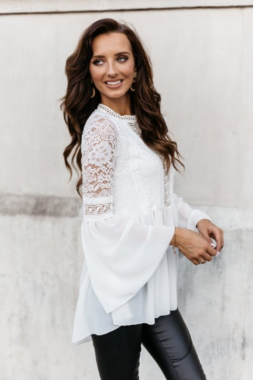 SHIRT LACE WHITE