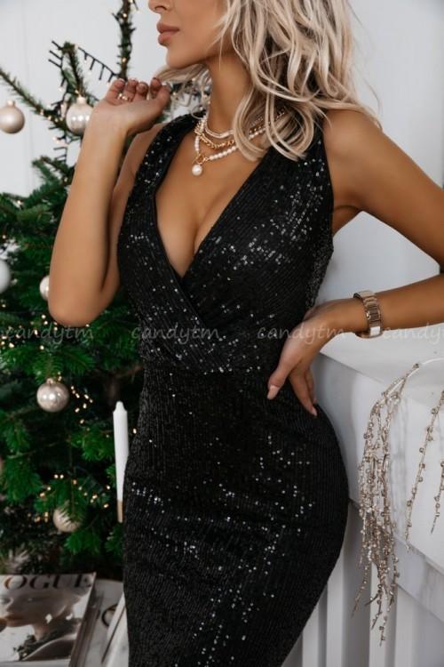 MAXI DRESS QUEEN BLACK 1
