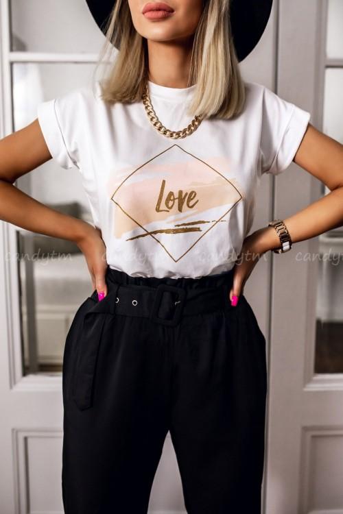 T-SHIRT LOVE BIAŁY 1