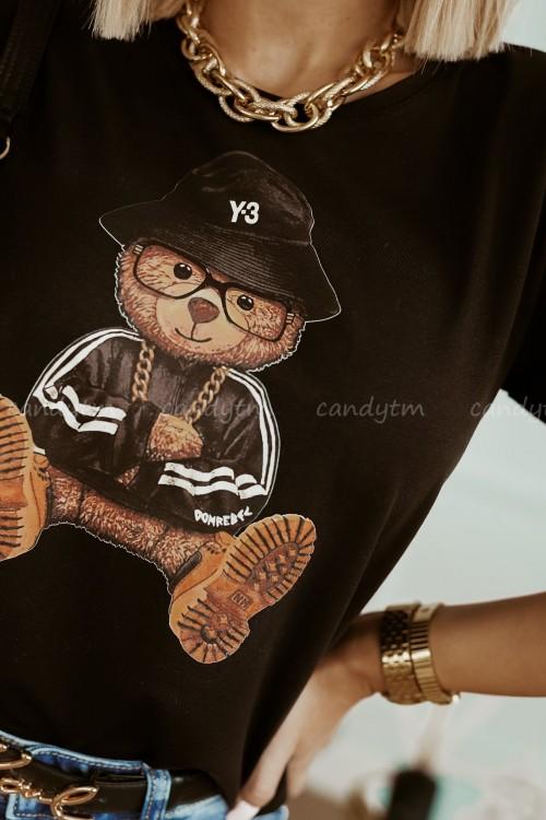T-SHIRT TEDDY BEAR CZARNY 4