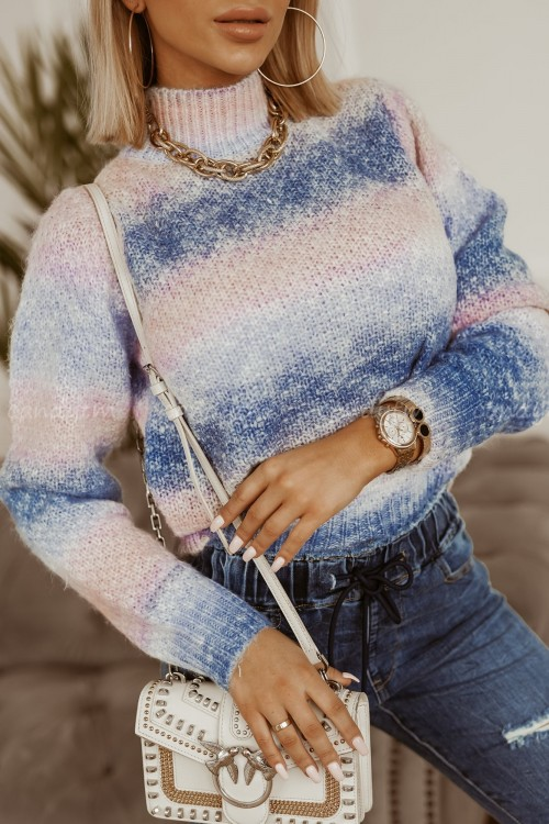 SWETER RAINBOW OMBRE BLUE 1