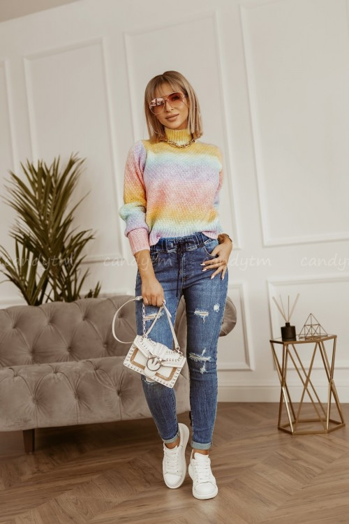 SWETER RAINBOW OMBRE PINK 2