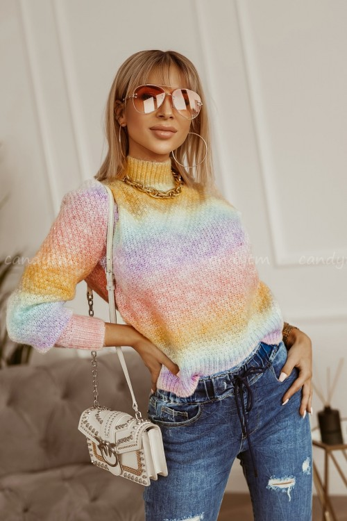 SWETER RAINBOW OMBRE PINK 4