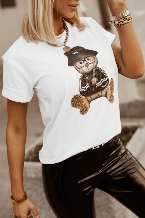 T-SHIRT TEDDY BEAR BIAŁY 1