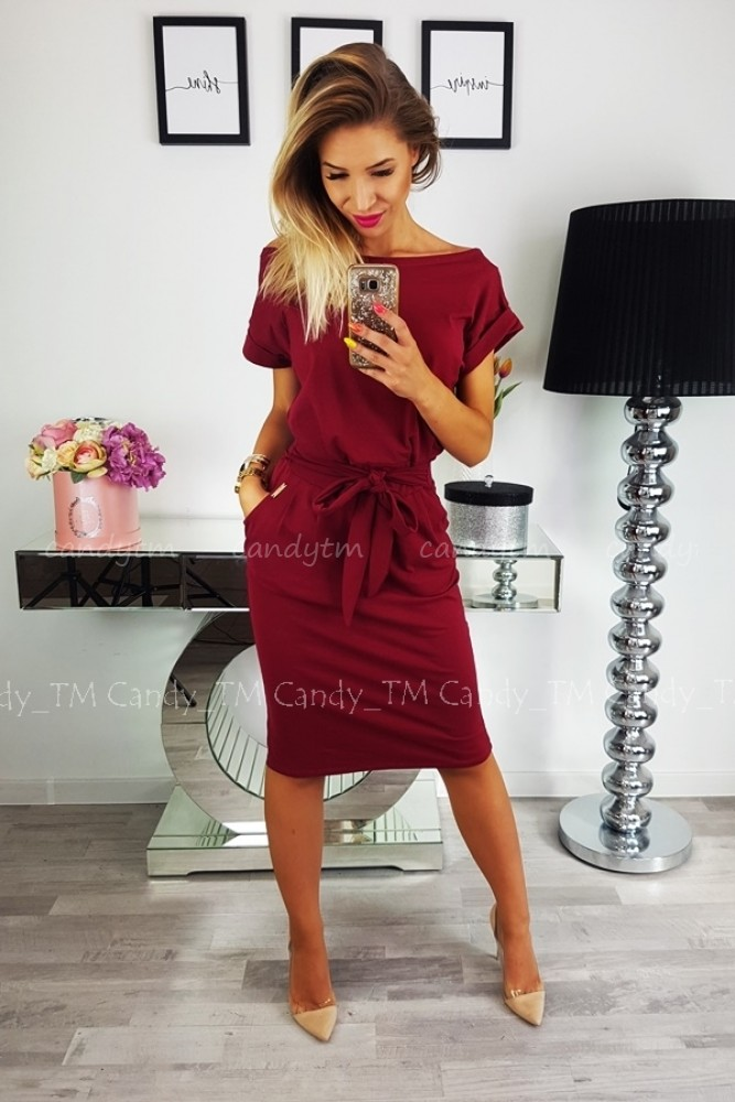 DRESS STELLA MARSALA