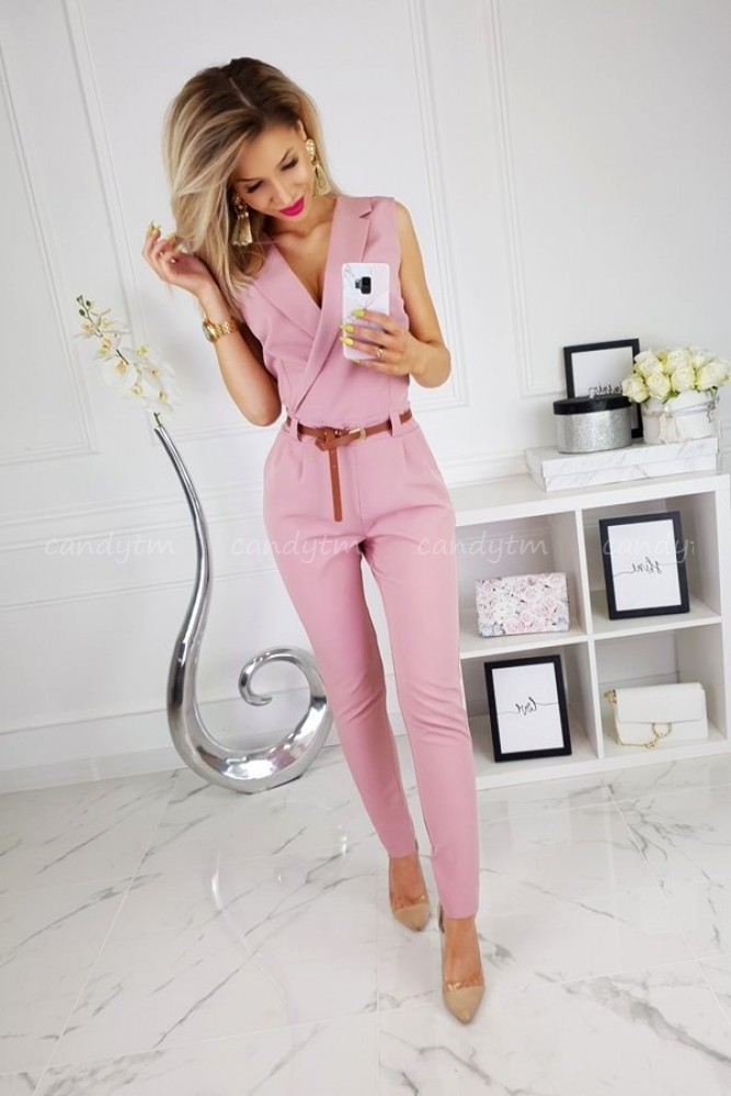 WRAP OVERALLS PINK