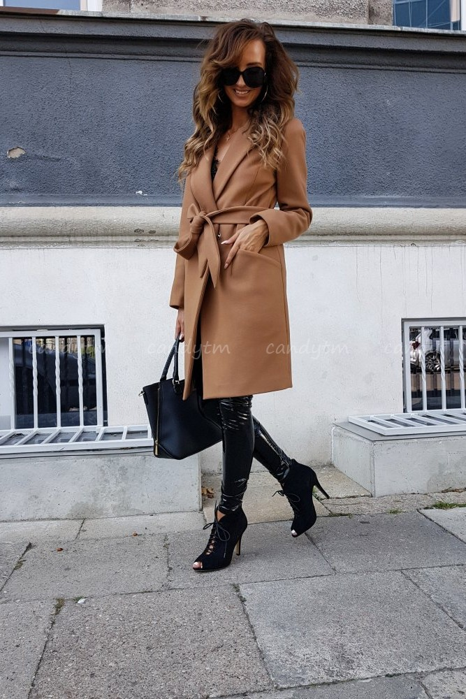 WOOL COAT CAMEL