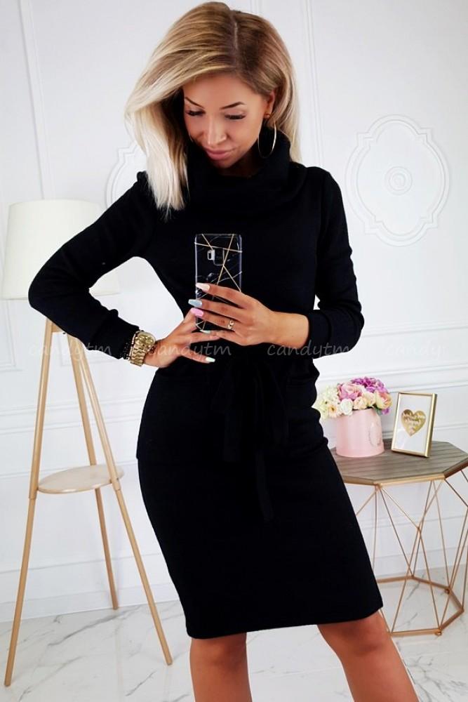 KNITTED DRESS CARMEN BLACK