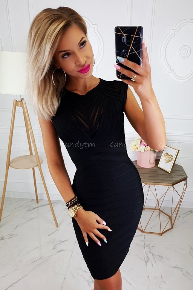 BANDAGE DRESS BLACK