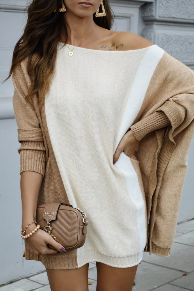 SWEATER SQUARE GOLDEN BEIGE