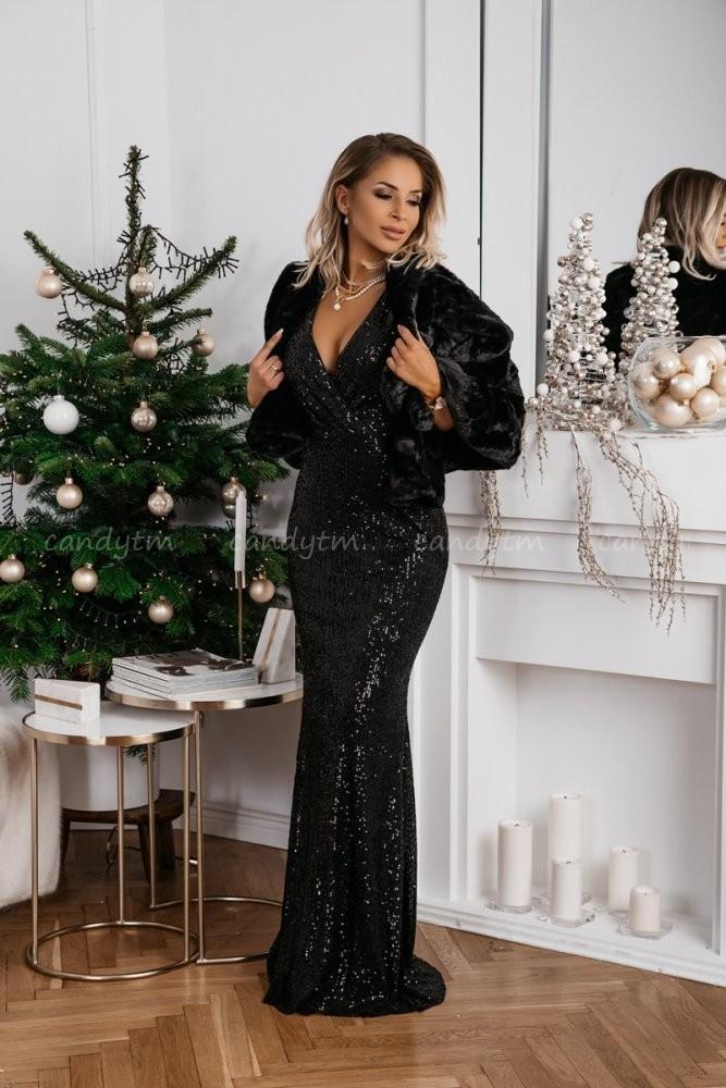 MAXI DRESS QUEEN BLACK