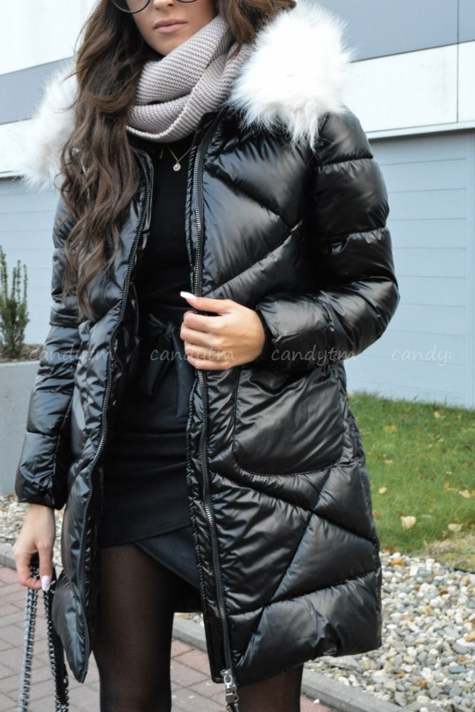 WINTER JACKET ARCTIC BLACK WITH WHITE FAUX FUR