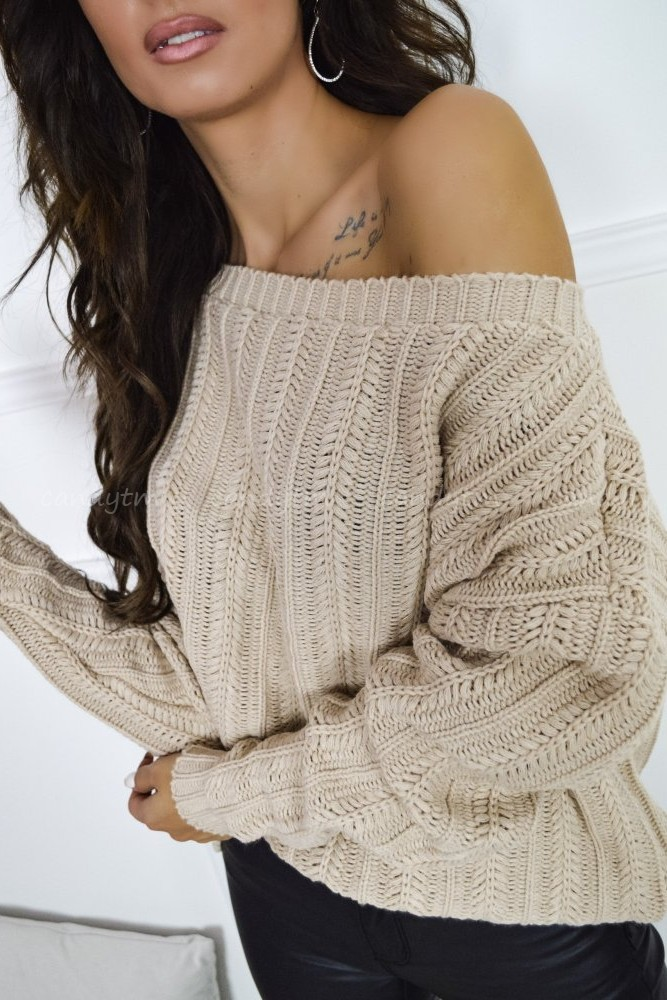 SWEATER HUSK BEIGE