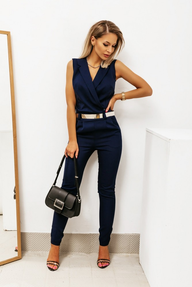WRAP OVERALLS NAVY BLUE
