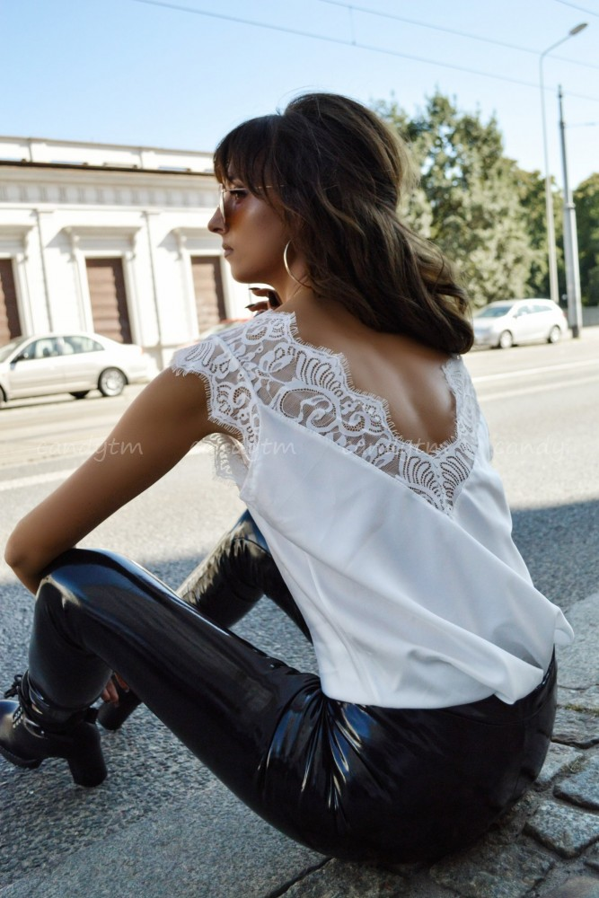 CROP TOP WITH LACE WHITE